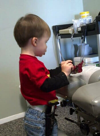 Son, John, playing at the Family Chiropractic office in Hampton, Virginia